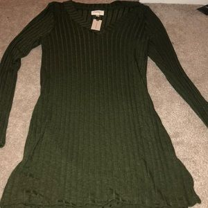 Anthropologie green dress